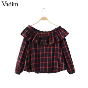 Women-sweet-ruffles-slash-neck-plaid-blouses-off-shoulder-crop-top-long-sleeve-shirts-female-casual.jpg