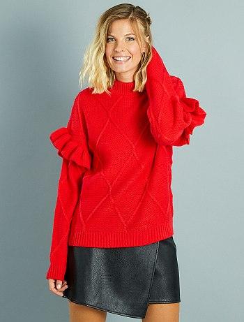 pullover-collo-montante-e-maniche-con-volant-rosso-donna-vx402_1_fr1